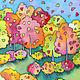 Шарфы и шарфики ручной работы. Счастливая осень. Татьяна Ли (Gi-Gi). Ярмарка Мастеров. Желтые листья, небо, любовь
