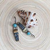 """Украшения ручной работы. Ярмарка Мастеров - ручная работа Серьги  """"В сокровищнице фараона"""". Handmade."""