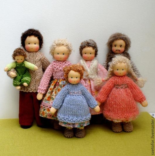 Вальдорфская игрушка ручной работы. Ярмарка Мастеров - ручная работа. Купить Семья. Handmade. Разноцветный, натуральные материалы, кукла текстильная