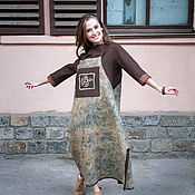 "Одежда ручной работы. Ярмарка Мастеров - ручная работа Сарафан валяный ""Птица счастья"". Handmade."