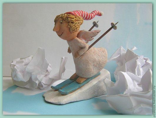 Человечки ручной работы. Ярмарка Мастеров - ручная работа. Купить Зимний ангел. Handmade. Подарок 2013, ангел, фигурки ангелов