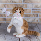 Куклы и игрушки handmade. Livemaster - original item Kitten Scottish fold. felted toy. Handmade.