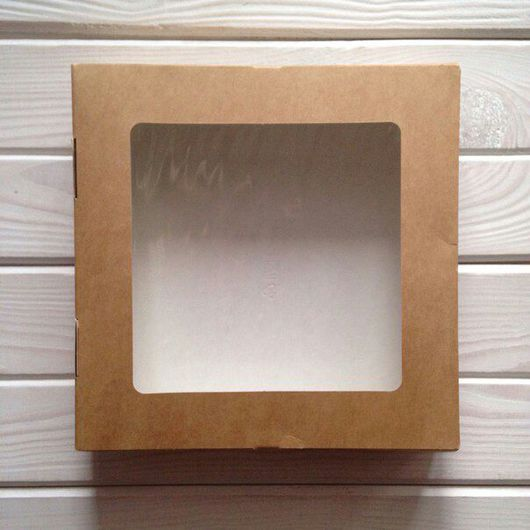 Упаковка ручной работы. Ярмарка Мастеров - ручная работа. Купить Крафт-коробка 20х20х4 (100шт). Handmade. Крафт, коробочка для подарка