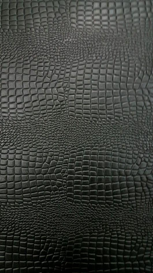 Шитье ручной работы. Ярмарка Мастеров - ручная работа. Купить Кожа натуральная Ящер черный. Handmade. Кожа, кожа натуральная