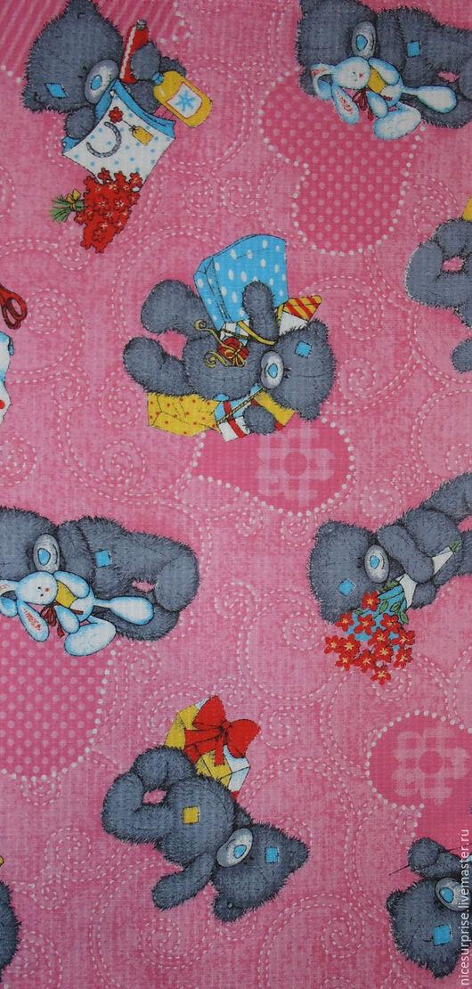 """Кухня ручной работы. Ярмарка Мастеров - ручная работа. Купить Полотенце"""" Мишки Тедди"""". Handmade. Розовый, полотенце, хлопок 100%"""