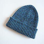 handmade. Livemaster - original item Caps: 100% cashmere knitted hat with elastic band. Handmade.