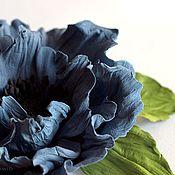 Украшения handmade. Livemaster - original item Leather flowers. Mac