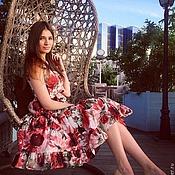 Одежда ручной работы. Ярмарка Мастеров - ручная работа Летнее платье подсолнухи. Handmade.