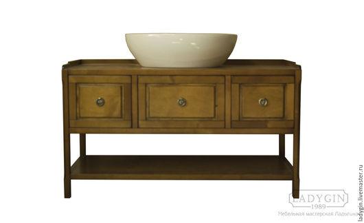 Мебель ручной работы. Ярмарка Мастеров - ручная работа. Купить Деревянная консоль под наставную раковину в стиле прованс. Handmade.