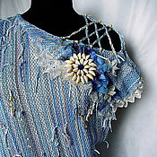 Одежда ручной работы. Ярмарка Мастеров - ручная работа Туника «Шепот моря». Handmade.