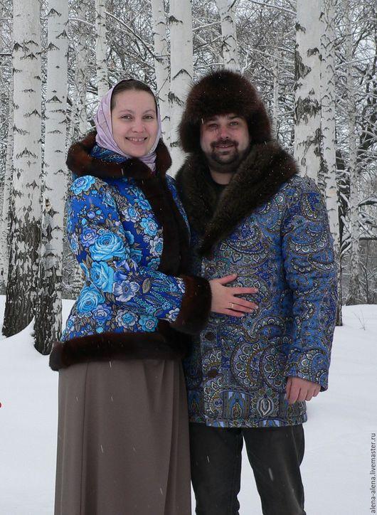 """Верхняя одежда ручной работы. Ярмарка Мастеров - ручная работа. Купить Зимнее пальто """"Милая парочка"""".. Handmade. Комбинированный"""