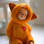 Куклы и игрушки ручной работы. Ярмарка Мастеров - ручная работа Рыжий маленький лисёнок. Handmade.