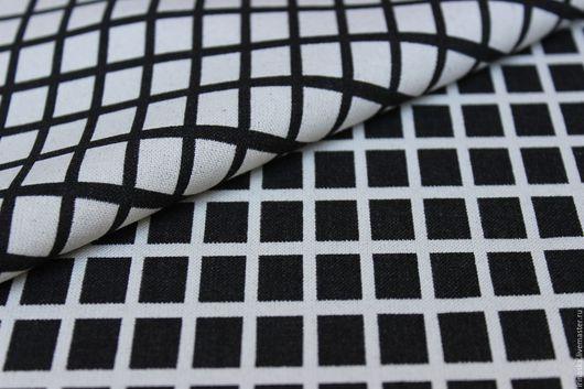 """Шитье ручной работы. Ярмарка Мастеров - ручная работа. Купить Шерсть """"Черно-белая клетка"""". Handmade. Чёрно-белый"""