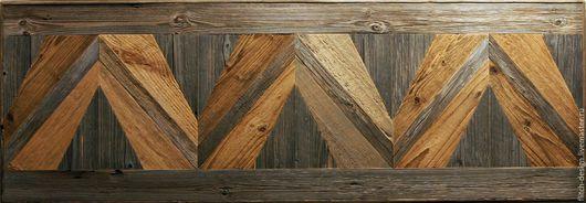 Абстракция ручной работы. Ярмарка Мастеров - ручная работа. Купить Панно из старой древесины. Handmade. Темно-серый, панно на стену