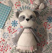 Мягкие игрушки ручной работы. Ярмарка Мастеров - ручная работа Панда в белом платье. Handmade.