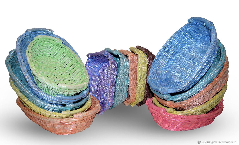 Разноцветные плетеные корзины, Корзины, Москва,  Фото №1