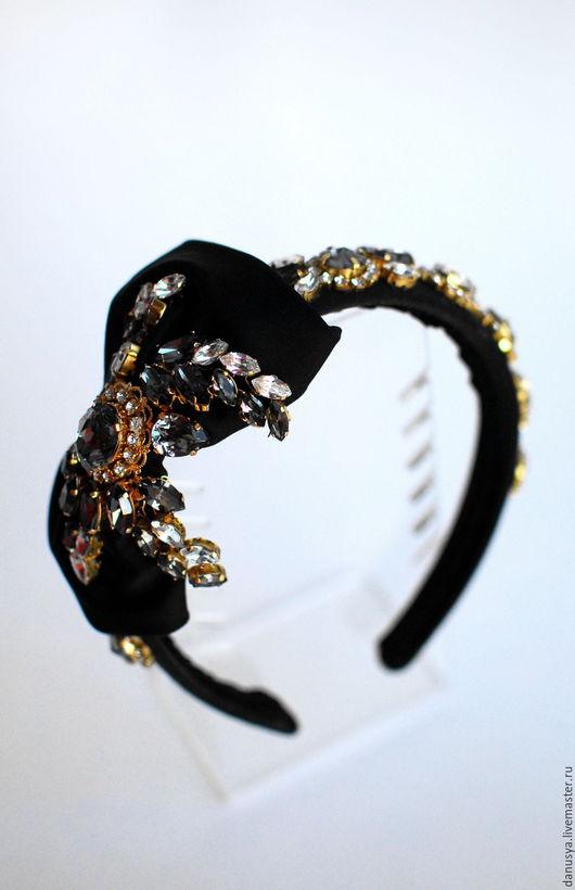 """Диадемы, обручи ручной работы. Ярмарка Мастеров - ручная работа. Купить Диадема-обруч по мотивам праздничной коллекции D&G""""Gold Collection"""". Handmade."""