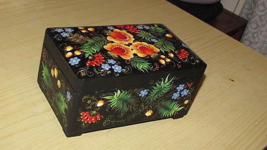 Шкатулки ручной работы. Ярмарка Мастеров - ручная работа. Купить Шкатулка «Яркие цветы». Handmade. Рыжий, цветы, кедр, сосна