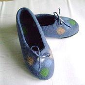Обувь ручной работы. Ярмарка Мастеров - ручная работа Тапочки  Тепло и уютно Авторская работа. Handmade.