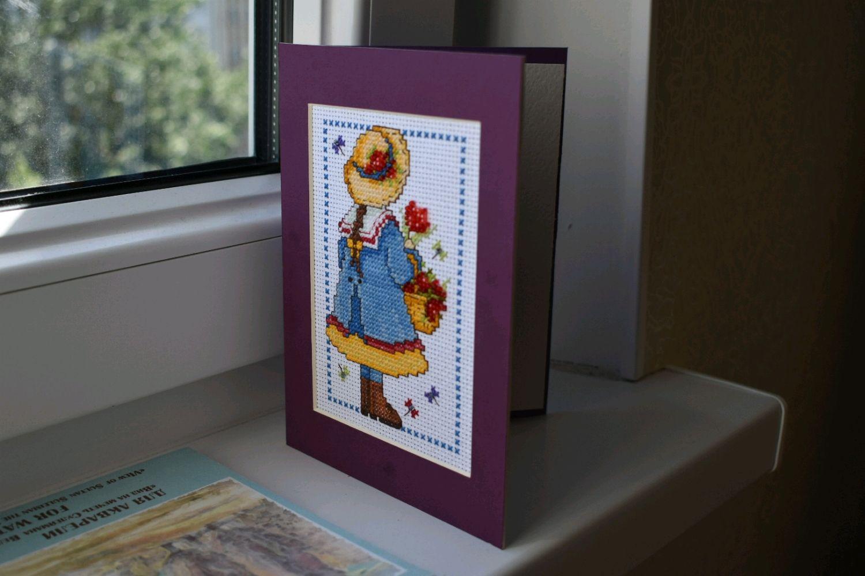Салли фейс, продажа вышитых открыток