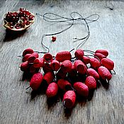 Jewelry Sets handmade. Livemaster - original item Necklace red black from dyed silk cocoons. Handmade.