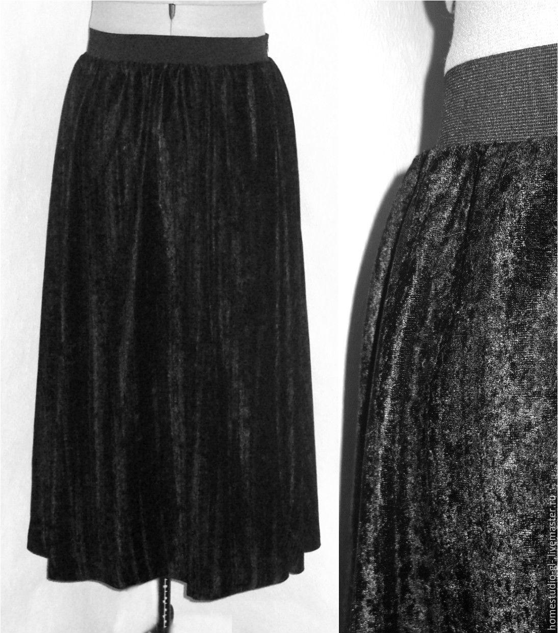 50Сшить юбку из бархата