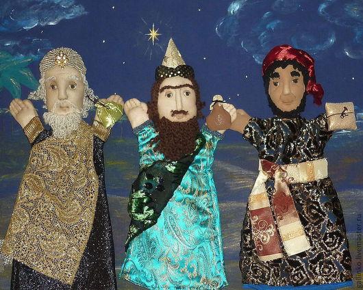 """Кукольный театр ручной работы. Ярмарка Мастеров - ручная работа. Купить """"Рождество"""" кукольный театр. Handmade. Рождество, рождественская сказка"""