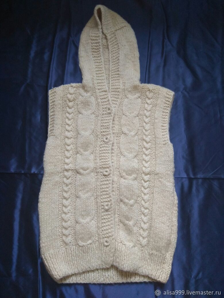 The hooded vest.Fleece, Vests, Moscow,  Фото №1