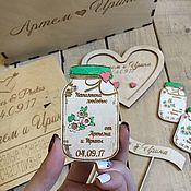 Свадебный салон ручной работы. Ярмарка Мастеров - ручная работа Магниты свадебные,подарок для гостей.. Handmade.
