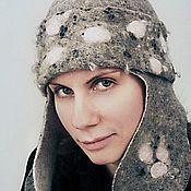 """Аксессуары ручной работы. Ярмарка Мастеров - ручная работа шапка войлочная """"Снегурочка"""". Handmade."""