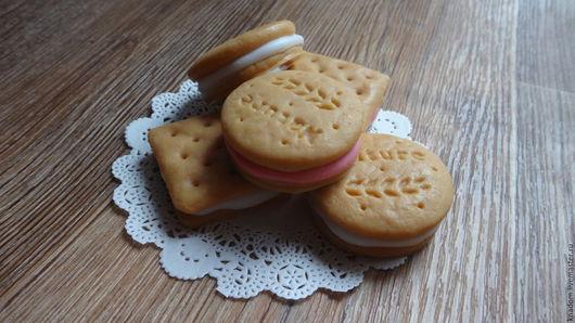 """Мыло ручной работы. Ярмарка Мастеров - ручная работа. Купить Мыло """"Печенье с начинкой"""". Handmade. Коричневый, печенье ручной работы"""