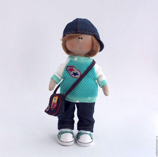 Коллекционные куклы ручной работы. Ярмарка Мастеров - ручная работа. Купить Кукла мальчик. Handmade. Комбинированный, кукла текстильная, большеножка