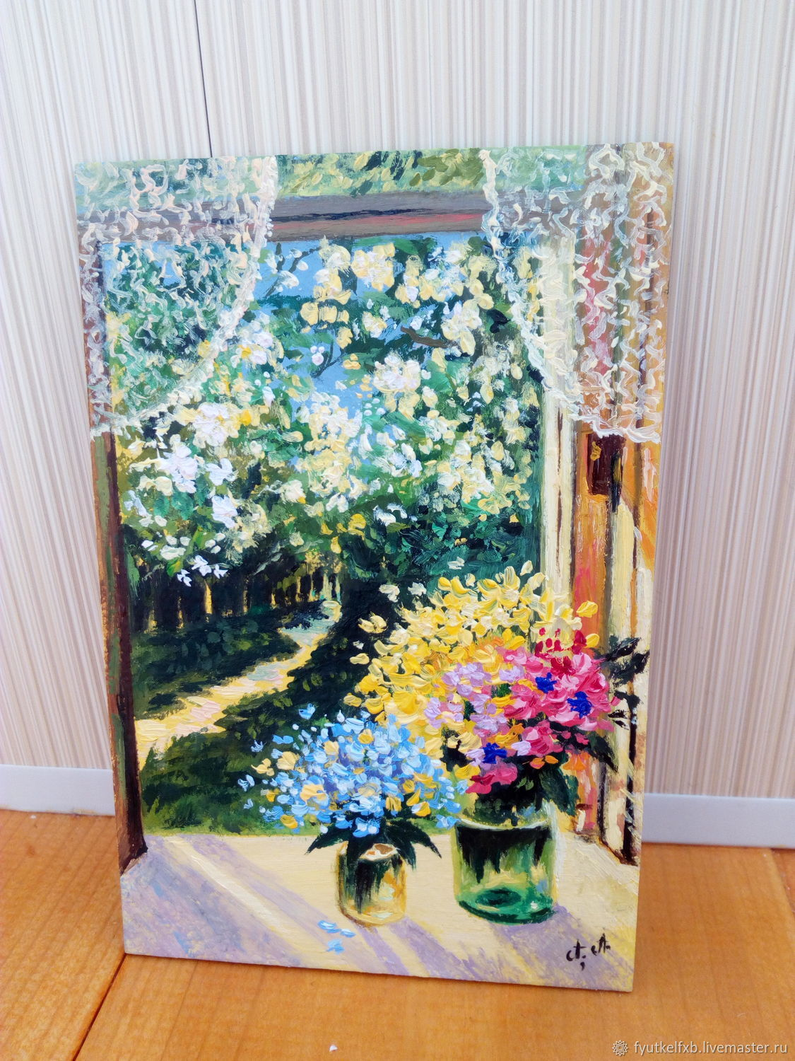 Picture of Two of the bouquet ( oil painting, miniature 10/15), Pictures, Moscow,  Фото №1