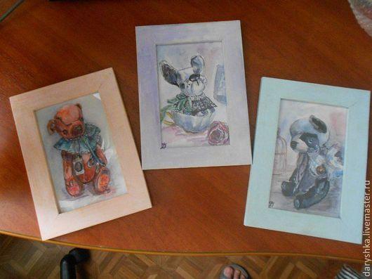 Животные ручной работы. Ярмарка Мастеров - ручная работа. Купить Акварельные миниатюры (копии и не только). Handmade. Акварель, акварельная картина