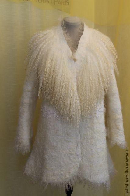 Верхняя одежда ручной работы. Ярмарка Мастеров - ручная работа. Купить Жакет валяный, удлинённый « Брызги Шампанского». Handmade.