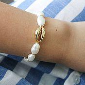 Украшения handmade. Livemaster - original item Nautical bracelet with pearls. Handmade.
