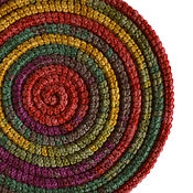 Аксессуары ручной работы. Ярмарка Мастеров - ручная работа Украшение на шею Lasso Foliage вязаное колье шарф бусы. Handmade.