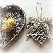 Для дома и интерьера ручной работы. Ярмарка Мастеров - ручная работа Сердце с филейным бантом. Handmade.
