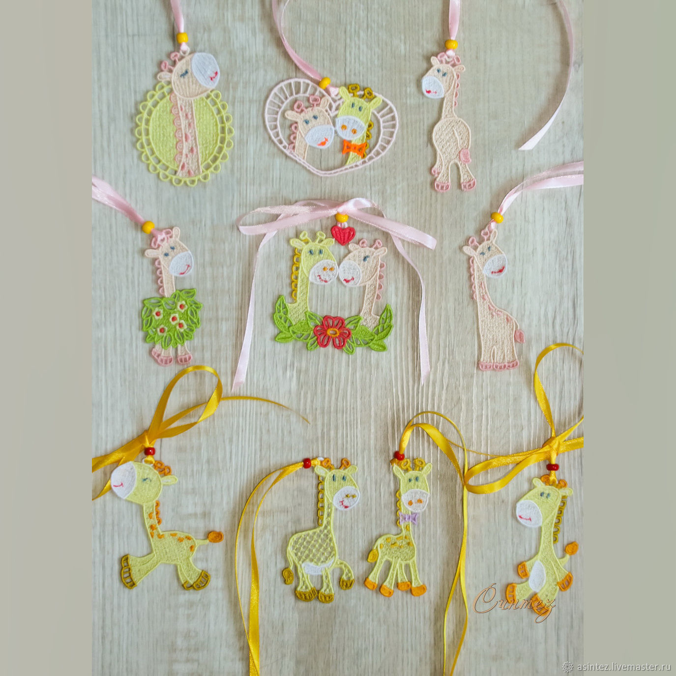 Embroidery LOVERS suspension toy giraffe toys FSL, Gifts for February 14, Moscow,  Фото №1