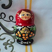 Русский стиль handmade. Livemaster - original item Matryoshka magnet. Handmade.