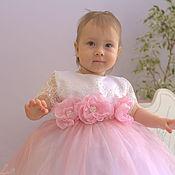 Работы для детей, ручной работы. Ярмарка Мастеров - ручная работа Кружевное платье на малышку 1-3 года. Handmade.
