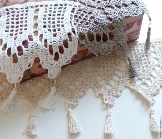 Текстиль, ковры ручной работы. Ярмарка Мастеров - ручная работа. Купить Кайма кружевная крючком. Handmade. Бежевый, 100% хлопок