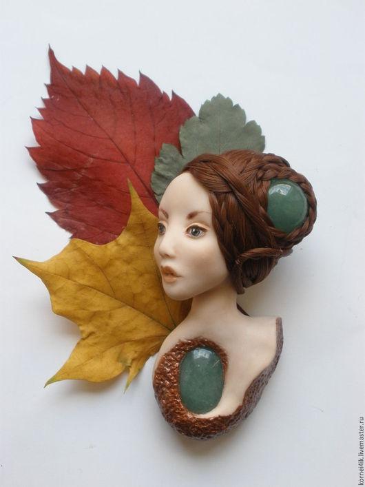 """Броши ручной работы. Ярмарка Мастеров - ручная работа. Купить Брошь """"Glamour. Осень"""". Handmade. Разноцветный, рыжий, осенний"""