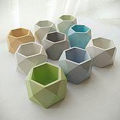 Цветы и флористика handmade. Livemaster - original item Concrete planters