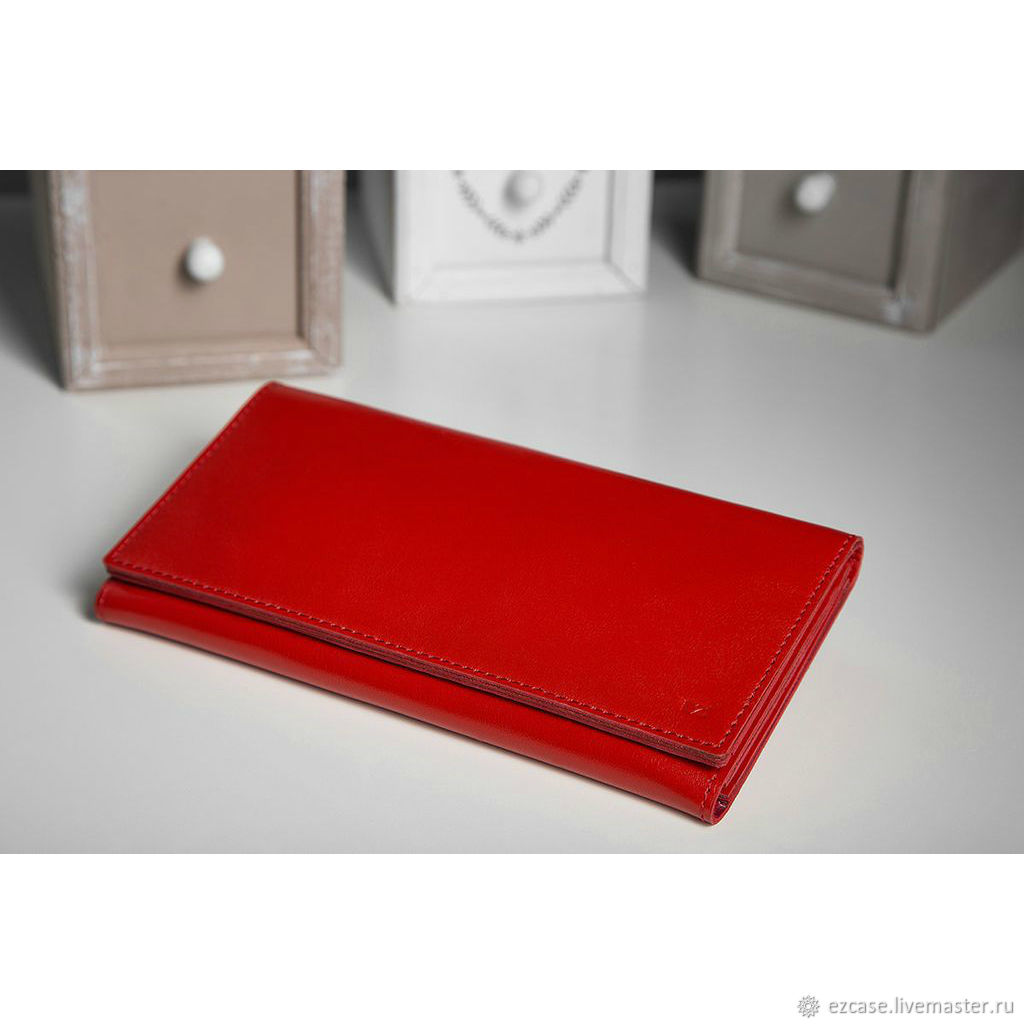 Flight genuine leather wallet (red), Wallets, Moscow,  Фото №1