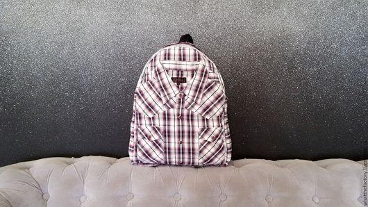 Сумки и аксессуары ручной работы. Ярмарка Мастеров - ручная работа. Купить Яркий городской рюкзак в клетку мужской женский ручной работы 1330. Handmade.