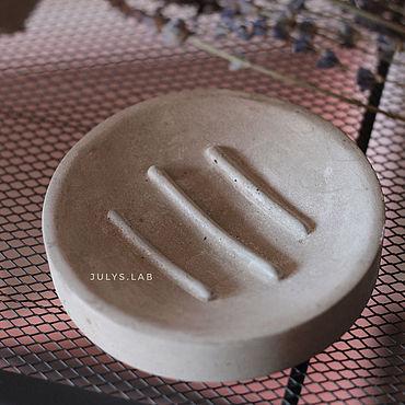Косметика ручной работы. Ярмарка Мастеров - ручная работа Бетонная мыльница в стиле Лофт. Handmade.