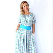 Одежда handmade. Livemaster - original item Dress from staple polka dot. Handmade.