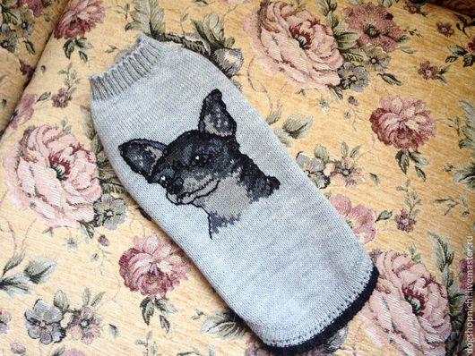 Одежда для собак, ручной работы. Ярмарка Мастеров - ручная работа. Купить СВитер для чихуахуа авторская работа. Handmade. Серый