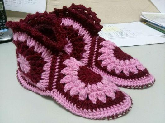 Обувь ручной работы. Ярмарка Мастеров - ручная работа. Купить Тапочки домашние. Handmade. Тапочки ручной работы, обувь на заказ